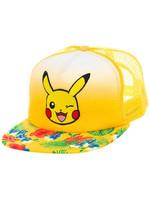 Pokemon - Trucker Cap Pikachu Flowers