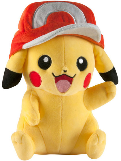 Pokemon - Pikachu with Ash Cap Plush - 25 cm