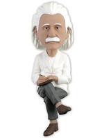 Albert Einstein Computer Sitter Bobblehead
