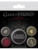 Game Of Thrones - Great Houses Pin Badges 5-Pack