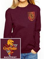 Harry Potter - Gryffindor Ladies Crewneck Sweatshirt