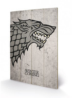 Game of Thrones - Stark Wooden Wall Art
