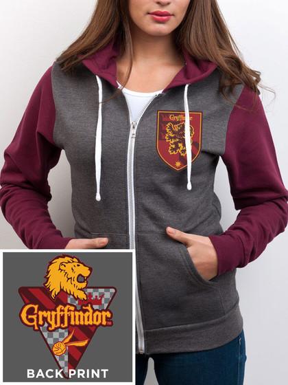 Harry Potter - Gryffindor Hooded Zip Sweater