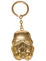 Star Wars - Golden Stormtrooper Metal Keychain