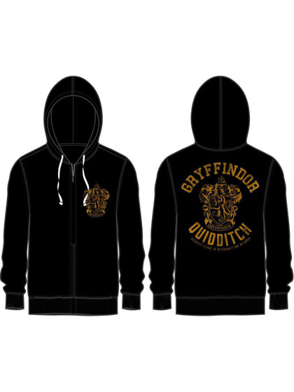 Harry Potter - Gryffindor Quidditch Hooded Sweater Black