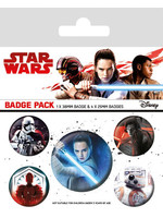 Star Wars Episode VIII - Characters Pin Badges 5-Pack