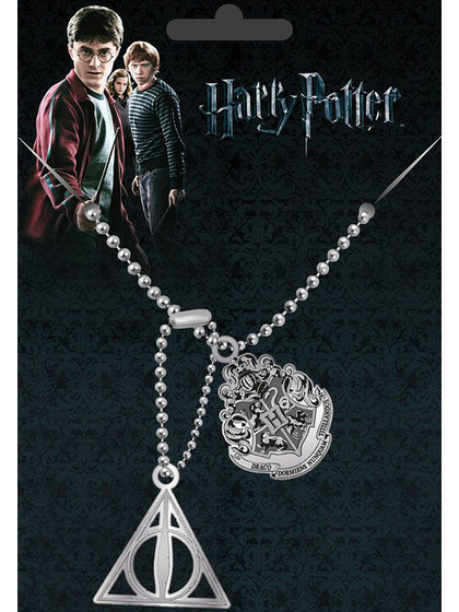 Harry Potter - Crest & Hallows Dog Tags with ball chain