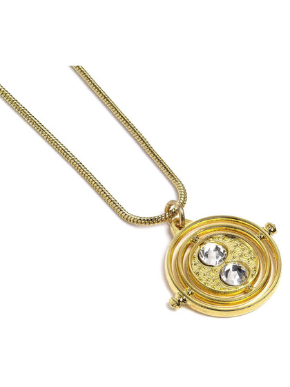 Harry Potter - Fixed Time Turner (gold plated) Pendant & Necklace