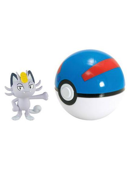 Pokemon - Alolan Meowth Clip n Carry Great Ball
