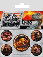 Jurassic World Fallen Kingdom - Pin Badges 5-Pack