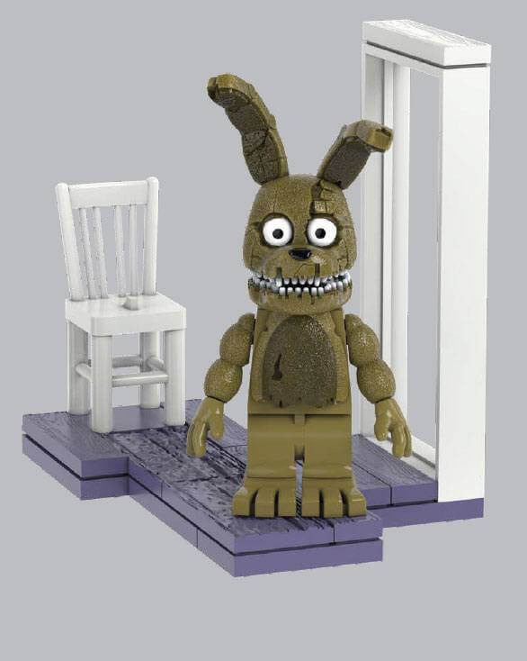 MCFARLANE Five Nights At Freddys Micro Fun with Plushtrap Construction Set