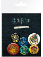 Harry Potter - Crests Pin Badges - 6-Pack