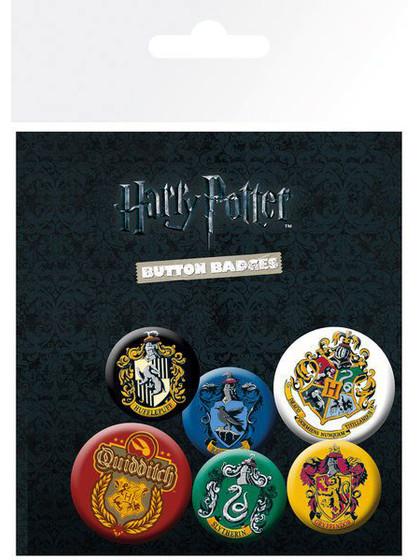 Harry Potter - Crests Pin Badges - 6-Pack