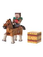 Minecraft - Steve & Chestnut Horse Action Figures
