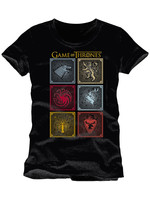 Game of Thrones - T-Shirt Badges Of The King