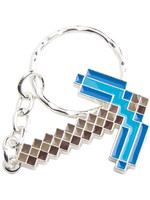 Minecraft - Diamond Pickaxe Metal Keychain