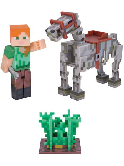 Minecraft - Alex with Skeleton Horse