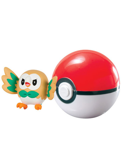 Pokemon - Rowlet Clip´n´Carry Poké Ball