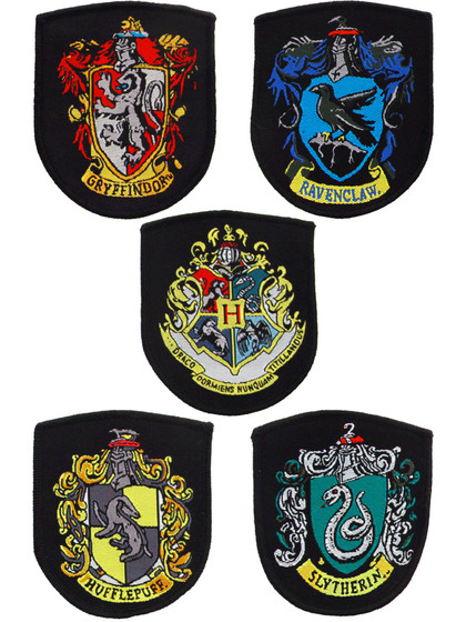 Harry Potter - House Crests Patches 5-Pack