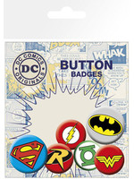 DC Comics - Logos Pin Badges 6-Pack