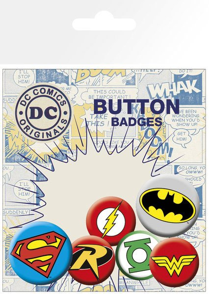 GYE DC Comics - Logos Pin Badges 6-Pack
