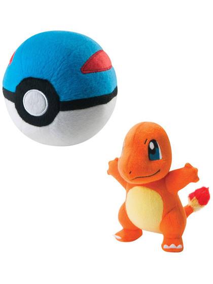 Pokemon - Charmander with Great Ball Plush - 15 cm