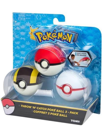 Pokemon - Throw 'n' Catch Poké Ball - 3-pack