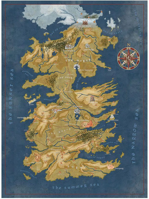 Game of Thrones - Cersei Lannister Westeros Map Puzzle