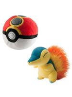 Pokemon - Cyndaquil with Repeat Poke Ball Plush - 15 cm