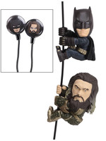 DC Comics - Batman & Aquaman with Earbuds Scalers Figures 2-Pack
