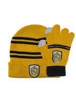 Harry Potter - Hufflepuff Beanie & Gloves Set for Kids