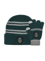 Harry Potter - Slytherin Beanie & Gloves Set for Kids
