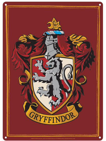 Harry Potter - Gryffindor Tin Sign - 21 x 15 cm