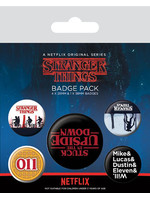 Stranger Things - Upside Down Pin Badges 5-Pack
