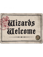 Harry Potter - Wizards Welcome Tin Sign - 21 x 15 cm