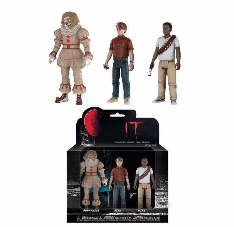 It 2017 - Pennywise, Stan, Mike 3-Pack - 10 cm