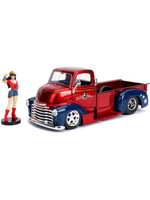 DC Bombshells - 1952 Checy COE with Wonder Woman Figure Hollywood Rides - 1/24