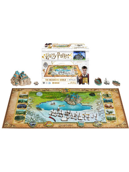 Harry Potter - The Wizarding World 4D Large Puzzle