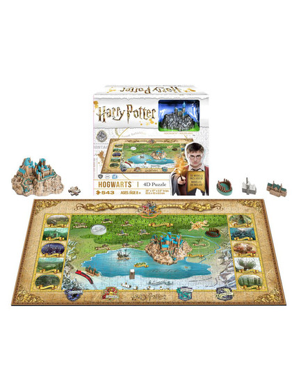 Harry Potter - Hogwarts 4D Mini Puzzle