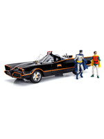 Batman - 1966 Batmobile with Light-Up Functions and Figures Diecast Model - 1/18