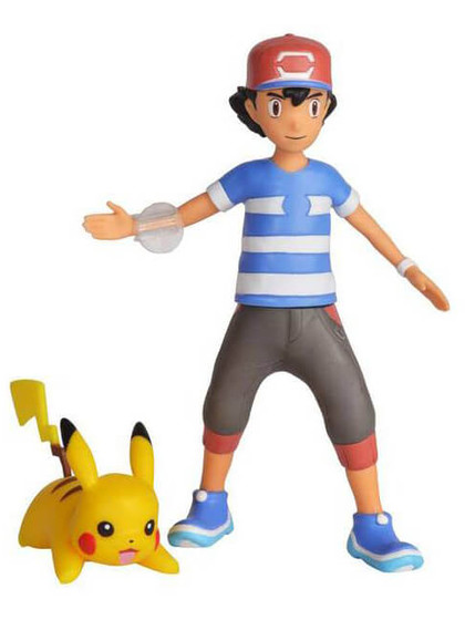 Pokemon - Battle Feature Action Figure Ash & Pikachu