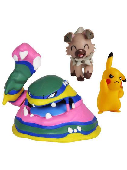 Pokemon - Battle Mini Figures Pikachu, Rockruff & Alolan Muk