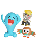 Pokemon - Battle Mini Figures Rowlet, Jangmo-o & Wobbuffet