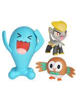 Pokemon - Battle Mini Figures Rowlet, Jangmo-o & Wobbuffet
