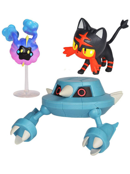 Pokemon - Battle Mini Figures Litten, Cosmog & Metang