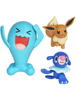 Pokemon - Battle Mini Figures Popplio, Eevee & Wobbuffet