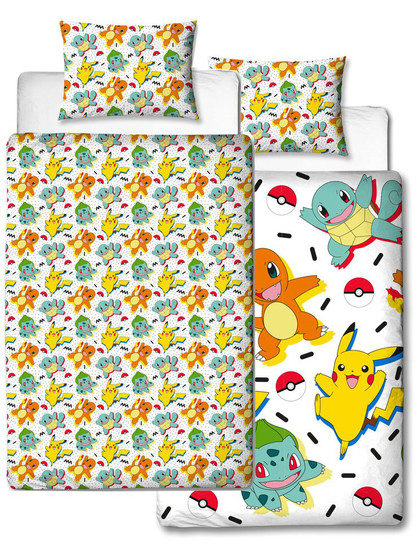 Pokemon - Duvet Set Reversible Starters Memphis - 135 x 200 cm