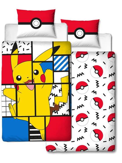 Pokemon - Duvet Set Reversible Pikachu Memphis - 135 x 200 cm