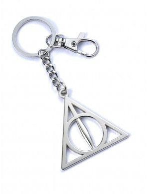 Harry Potter - Deathly Hallows Keychain (silver plated)