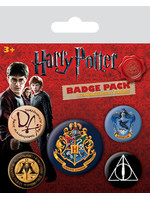 Harry Potter - Hogwarts Pin Badges 5-Pack